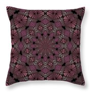 Florametric Mandala-12 Throw Pillow