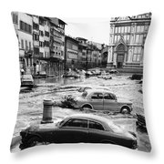 Florence: Flood, 1966 Throw Pillow