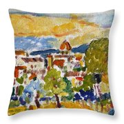 Florence From A Hill Throw Pillow