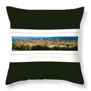 Florence, Italy Panoramic Poster Throw Pillow