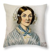Florence Nightingale, Nurse Throw Pillow