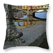 Florence The Old Bridge Throw Pillow