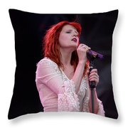 Florence Welch Singer Of Florence And The Machine Performing Live - 002 Throw Pillow