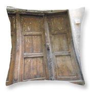 Florentine Door 4 Throw Pillow