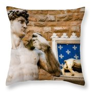 Florentine Icons Throw Pillow