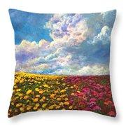 Flores De Mexico Throw Pillow
