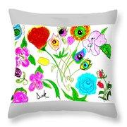 Flores De Primavera  Throw Pillow