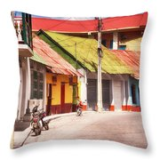 Flores Guatemala Throw Pillow