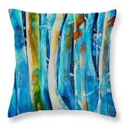 Floresta Azul Throw Pillow