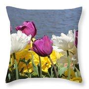 Floriade 9 Throw Pillow