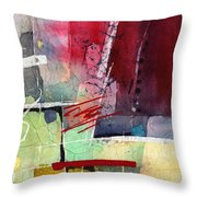 Florid Dream - Red Throw Pillow