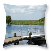 Florida Backwater Throw Pillow