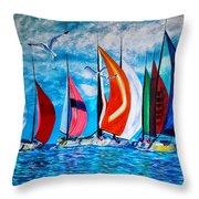 Florida Bay Throw Pillow
