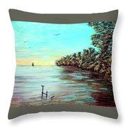 Florida Bay's Elliot Key Throw Pillow