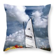 Florida Beach 3 Throw Pillow