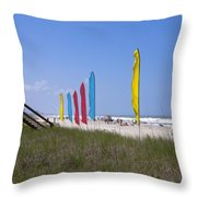 Florida Beach On The Atlantic Throw Pillow