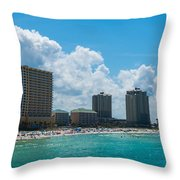 Florida Beach Panama City Throw Pillow