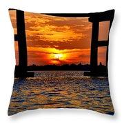 Florida Before Sunset  Throw Pillow