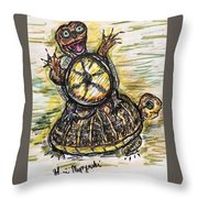 Florida Box Turtle Throw Pillow