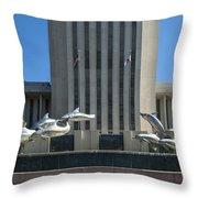 Florida Capitol Dolphin Fountain Throw Pillow by Frank Feliciano