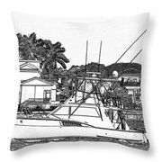 Florida Coastal Living Work D Throw Pillow