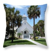 Florida Community Chapel Throw Pillow