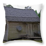 Florida Cracker Cabin Circa 1900 Throw Pillow