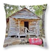 Florida Cracker Church And School House Throw Pillow
