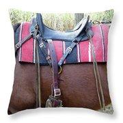 Florida Cracker Saddle Throw Pillow