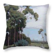 Florida Cypress With Birds Throw Pillow