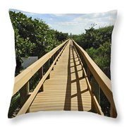 Florida Dune Walk Throw Pillow