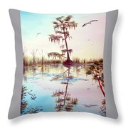 Florida Everglades Study # 1 Throw Pillow
