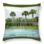 Florida Fountain Throw Pillow