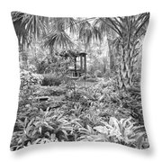 Florida Garden Scene_009 Throw Pillow