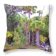 Florida Greens Throw Pillow