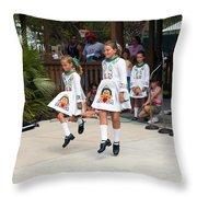 Florida Irish Dancers Throw Pillow