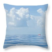 Florida Keys Clouds And Ocean Throw Pillow