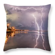 Florida Lightning Throw Pillow