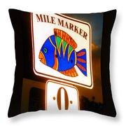 Florida Mile Marker 0 Throw Pillow