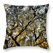 Golden Moss Throw Pillow