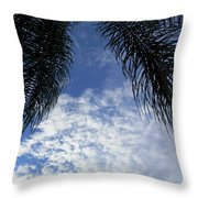 Florida Palm Fronds Blowing In The Breeze Throw Pillow