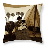 Florida Pioneers 1800s Throw Pillow