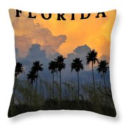 Florida Poster Throw Pillow