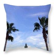 Florida Queen Palm   Throw Pillow