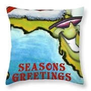Florida Seasons Greetings Throw Pillow