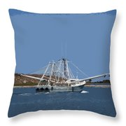 Florida Shrimper Throw Pillow