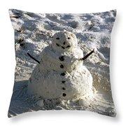 Florida Snowman Throw Pillow