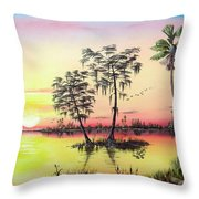 Florida Splendor Throw Pillow