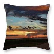 Florida Sunset Winding Road 2 Throw Pillow