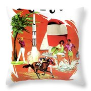 Florida, Vintage Travel Poster Throw Pillow